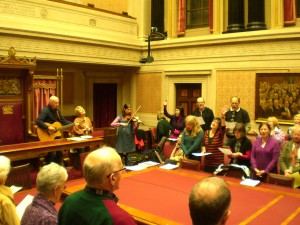 Worship inside Stormont