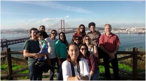 YWAM Lisbon staff and students overlooking Lisbon