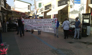 Demonstration at Lefkosia border